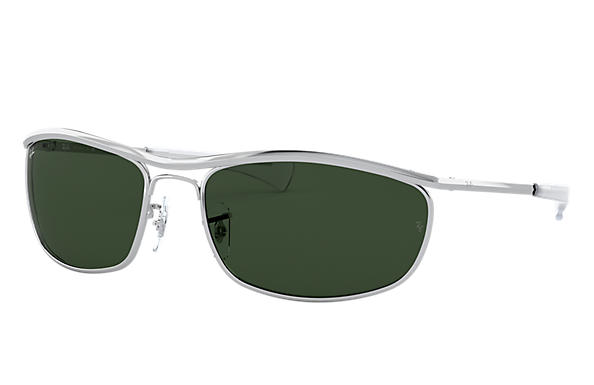 Ray-Ban Sunglasses OLYMPIAN I DELUXE Silver with Green Classic G-15 lens