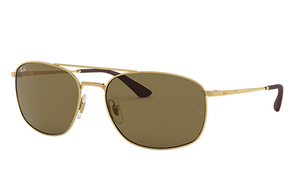 Ray-Ban 0RB3654-RB3654 Gold SUN