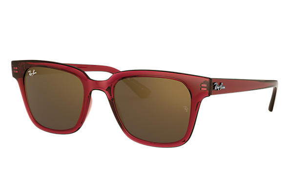 Ray-Ban 0RB4323-RB4323 Transparent Red,Rot SUN
