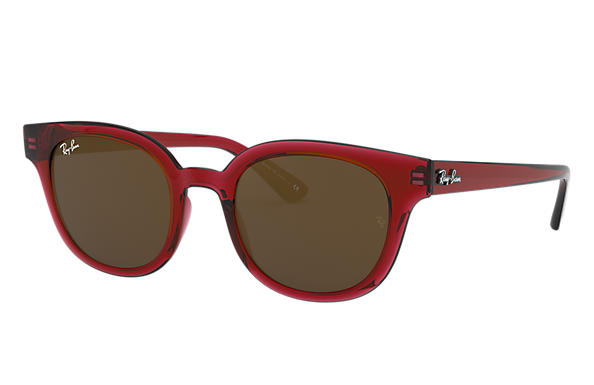 Ray-Ban 0RB4324-RB4324 Transparent Red,Rot SUN