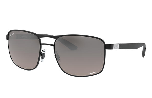 Ray-Ban		 0RB3660CH-RB3660CH CHROMANCE マットブラック,Zwart; Brushed Silver,Zilver SUN