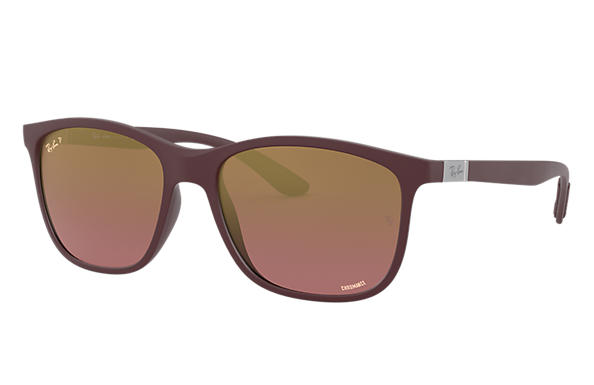 Ray-Ban Sunglasses RB4330 CHROMANCE Mat donkerviolet met brillenglas Paars Spiegel Chromance