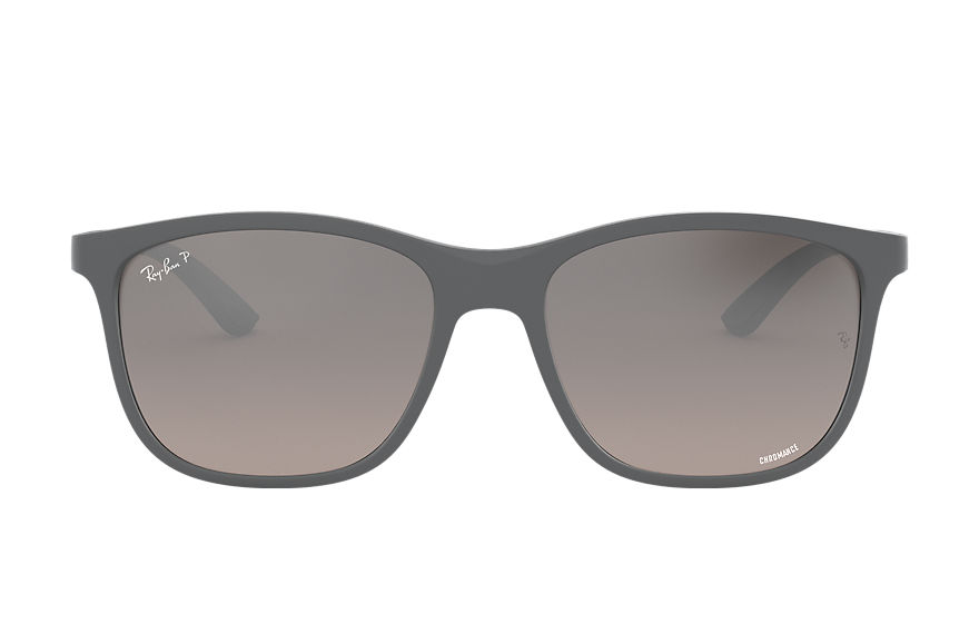 Ray-Ban Sunglasses RB4330CH CHROMANCE Matte Grey with Silver Mirror Chromance lens