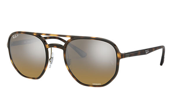 Ray-Ban Sunglasses RB4321 CHROMANCE Tortoise with Brown Mirror Chromance lens