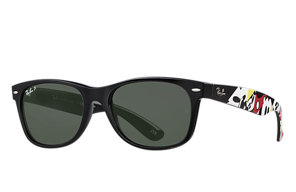 Ray-Ban Sunglasses RB2132 Mickey Mouse collection Black with Green Classic G-15 lens