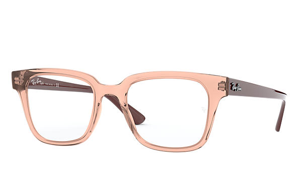 Ray-Ban 0RX4323V-RB4323V Transparent Pink; Brown OPTICAL