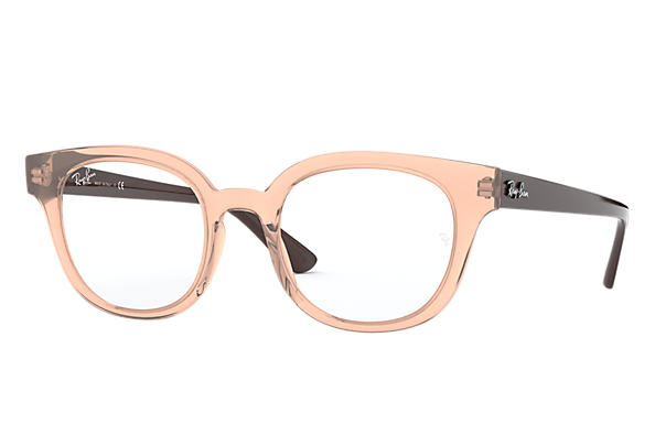 Ray-Ban 0RX4324V-RB4324V Transparent Pink; Brown OPTICAL