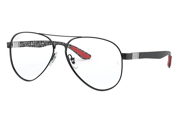 Ray-Ban 0RX8420-RB8420 Schwarz; Brushed Silver OPTICAL