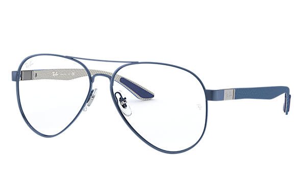 Ray-Ban 0RX8420-RB8420 Blue; Brushed Gunmetal,Gunmetal OPTICAL