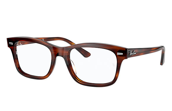 Ray-Ban 0RX5383-BURBANK Striped Red Havana OPTICAL