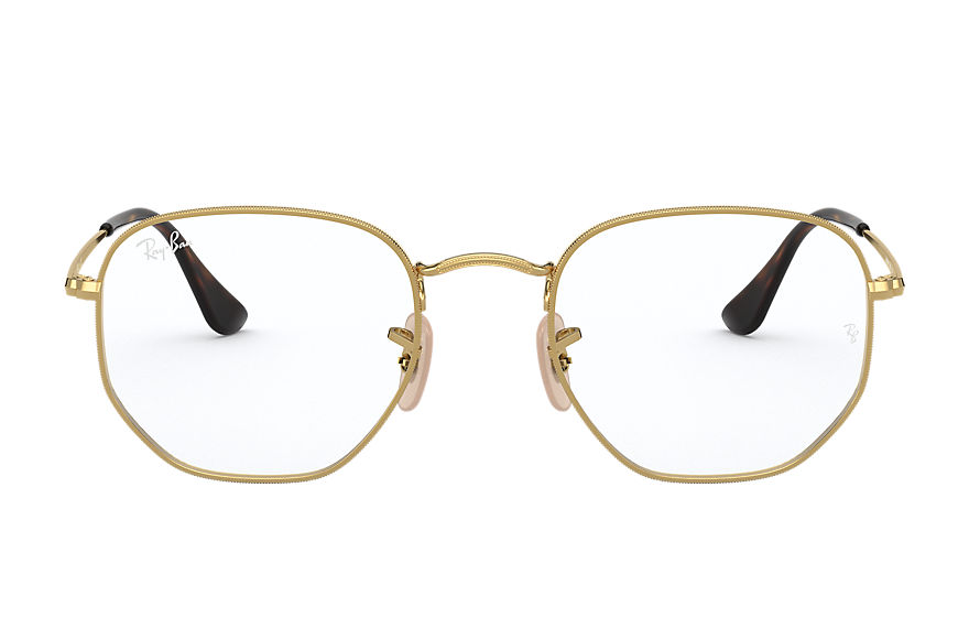 Ray-Ban  graduados RX6448 UNISEX 001 hexagonal optics ouro 8056597124430