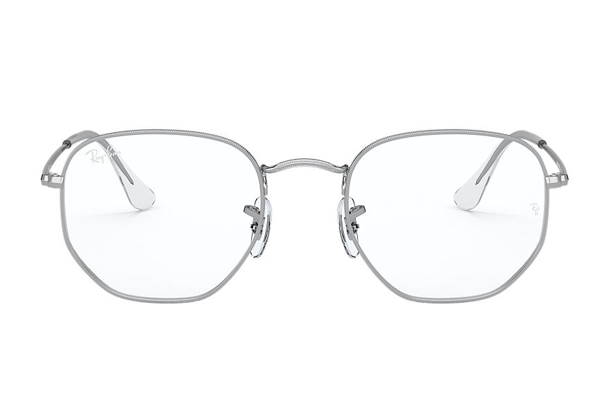 Ray-Ban  eyeglasses RX6448 UNISEX 001 hexagonal optics silver 8056597124492