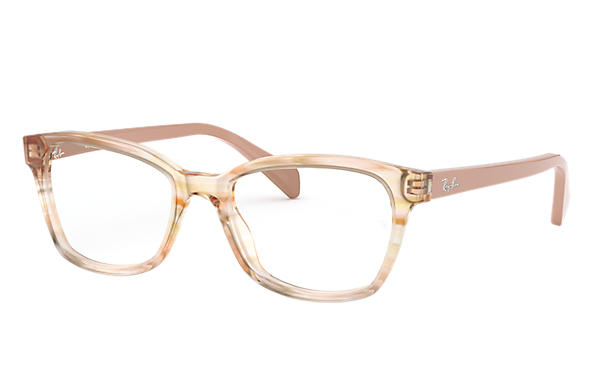Ray-Ban 0RY1591-RB1591 Striped Brown,Brown; Beige OPTICAL