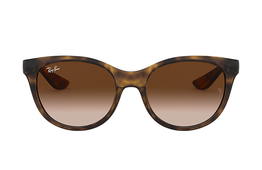 Ray-Ban RJ9068S Tortoise with Brown Gradient lens