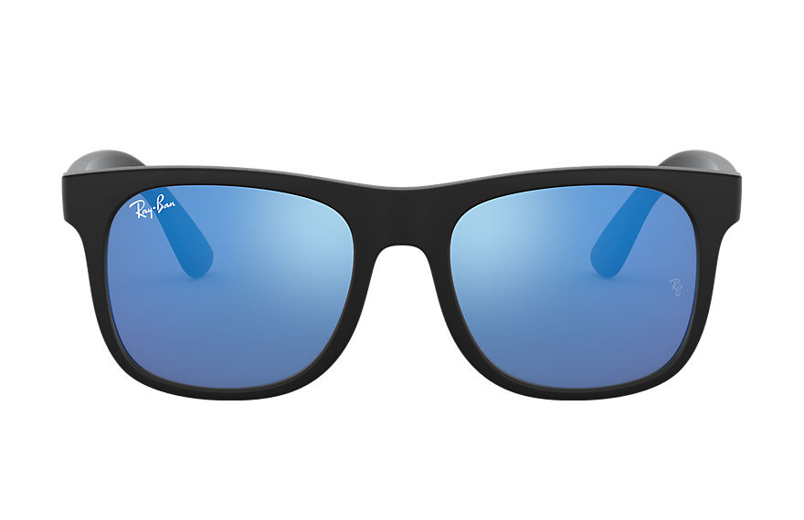 Ray-Ban RJ9069S Black with Blue Mirror lens