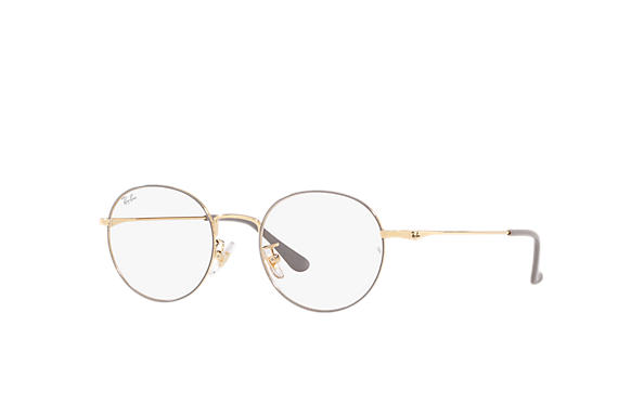 Ray-Ban 0RX6369D-RB6369D Light Grey,Gold; Gold OPTICAL