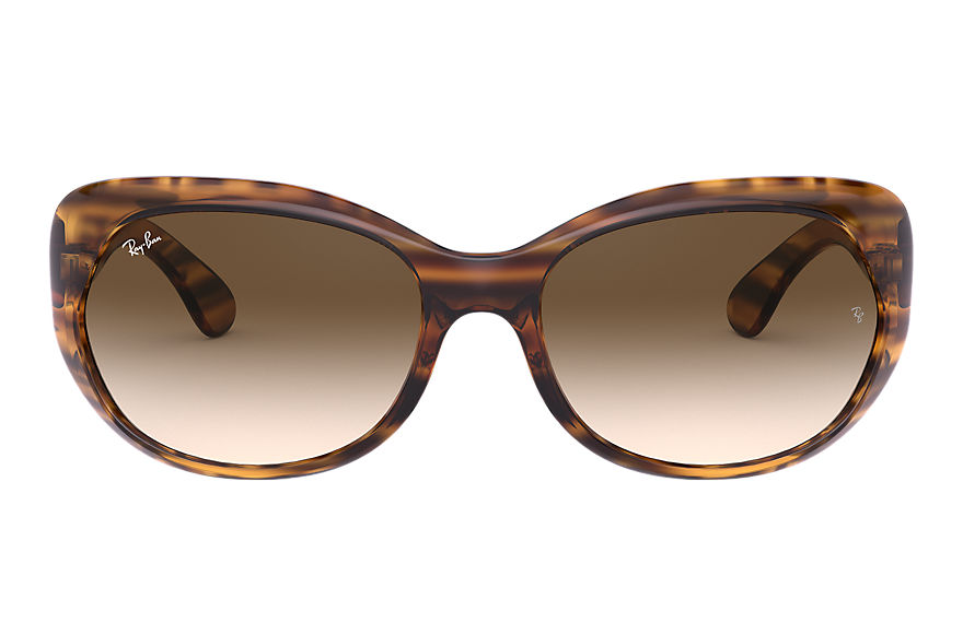 Ray-Ban  sunglasses RB4325 FEMALE 002 rb4325 striped brown 8056597132992