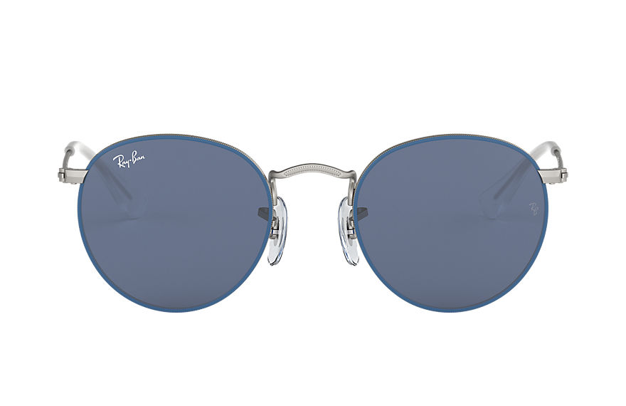 Ray-Ban  sunglasses RJ9547S CHILD 001 round metal junior matte blue 8056597135979
