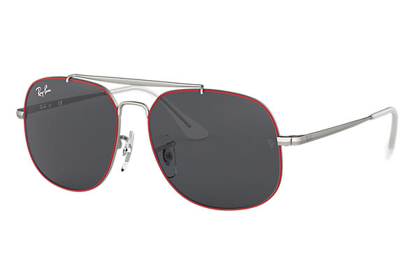 Ray-Ban 0RJ9561S-GENERAL JUNIOR Matte Red,Silver; Matte Silver,Silver SUN