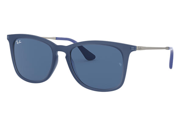 Ray-Ban 0RJ9063S-RJ9063S Transparent Blue; Rubber Silver,Silver SUN