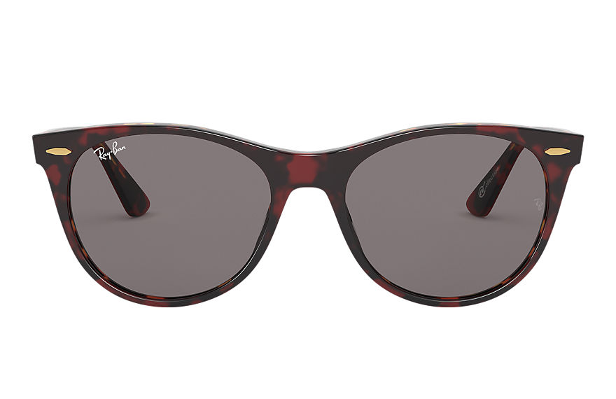 Ray-Ban  lunettes de soleil RB2185 UNISEX 001 wayfarer ii online exclusive transparent red 8056597137195