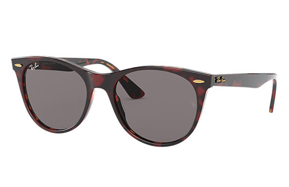 Ray-Ban Sunglasses WAYFARER II @COLLECTION Transparent Red with Grey Classic lens