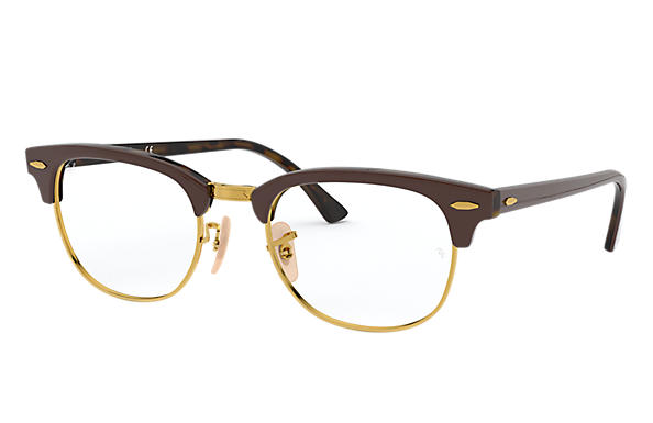 Ray-Ban 0RX5154-CLUBMASTER OPTICS Brown,Tortoise OPTICAL