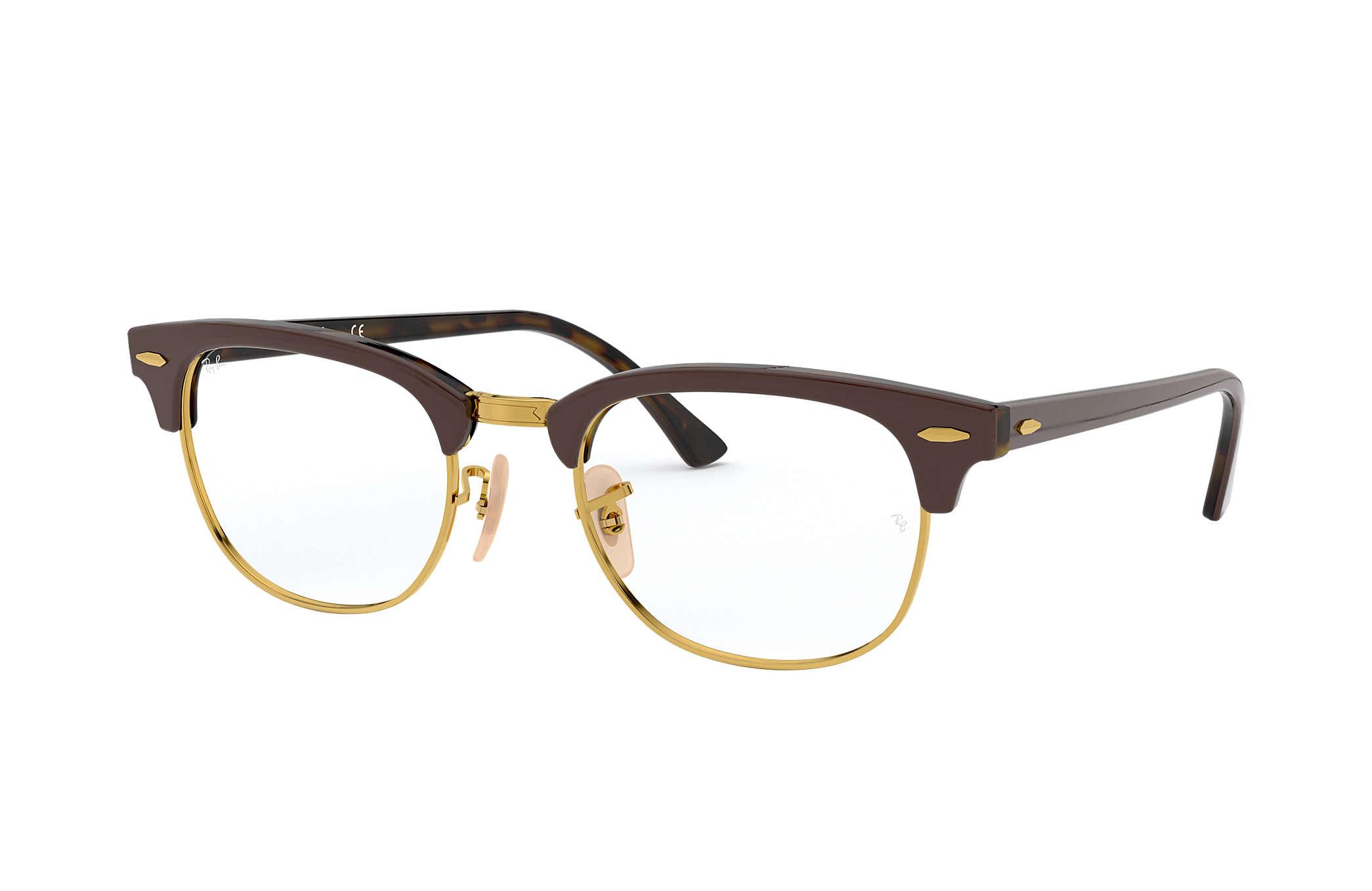 Ray Ban eyeglasses Clubmaster Optics RB5154 Brown Acetate