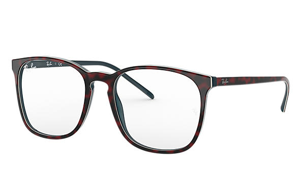 Ray-Ban 0RX5387-RB5387 Rojo Havana,Azul OPTICAL