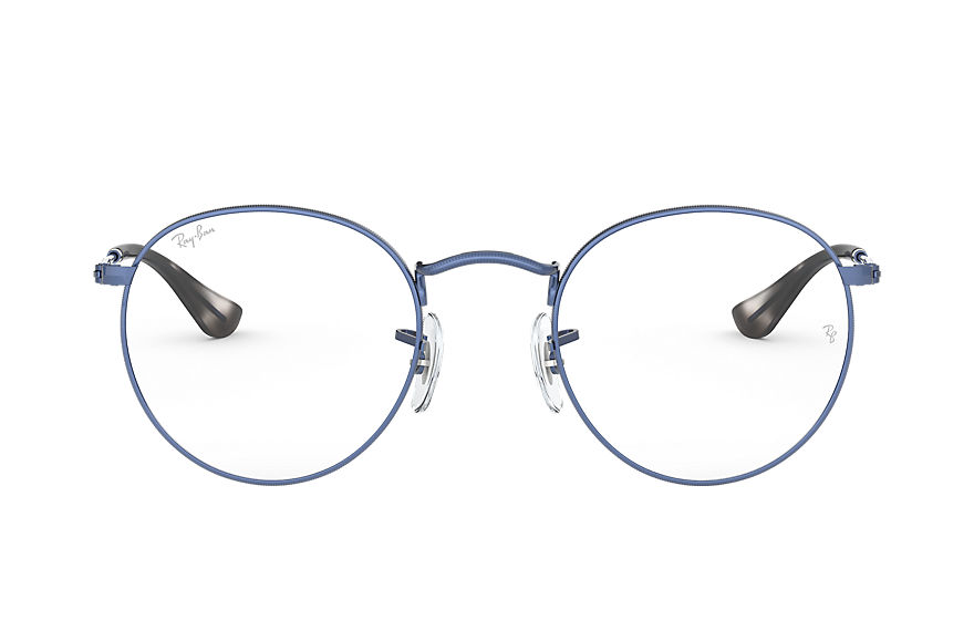 Ray-Ban  eyeglasses RX3447V UNISEX 001 round metal optics transparent blue 8056597138703