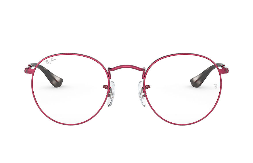 Ray-Ban  eyeglasses RX3447V UNISEX 001 round metal optics matte red 8056597138758