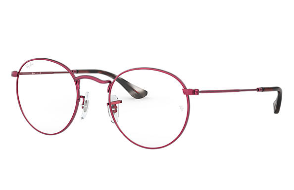 Ray-Ban 0RX3447V-ROUND METAL OPTICS Matte Red,Red OPTICAL