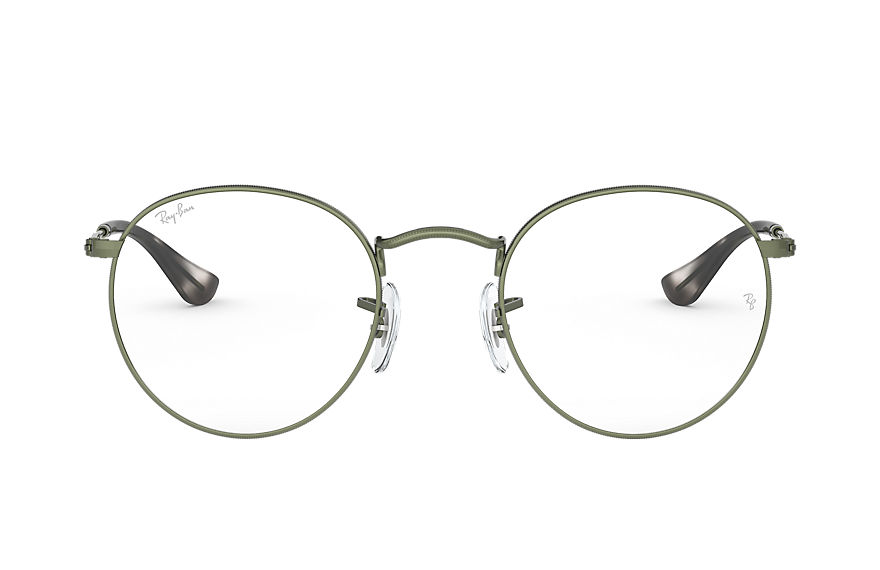 Ray-Ban  eyeglasses RX3447V UNISEX 001 round metal optics sand green 8056597138796