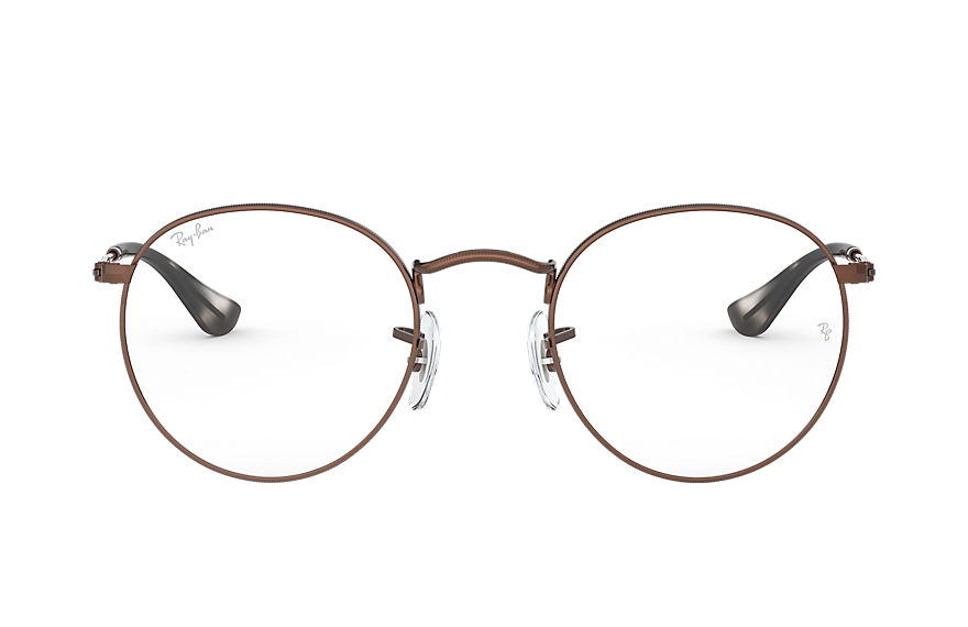 Ray-Ban  eyeglasses RX3447V UNISEX 001 round metal optics brown 8056597138819