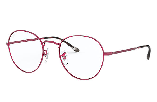 Ray-Ban 0RX3582V-ROUND METAL OPTICS II Matte Red,Red OPTICAL