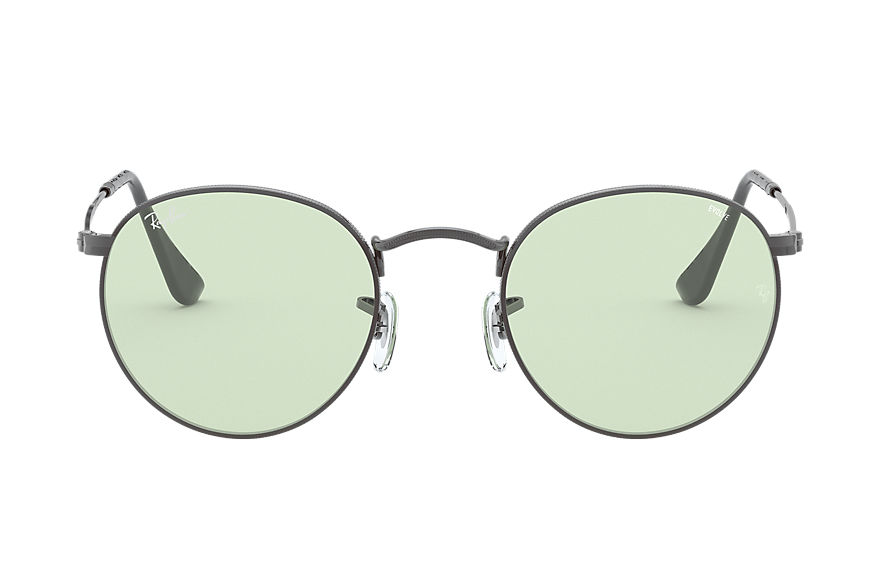 Ray-Ban  sunglasses RB3447 UNISEX 010 round solid evolve gunmetal 8056597139175
