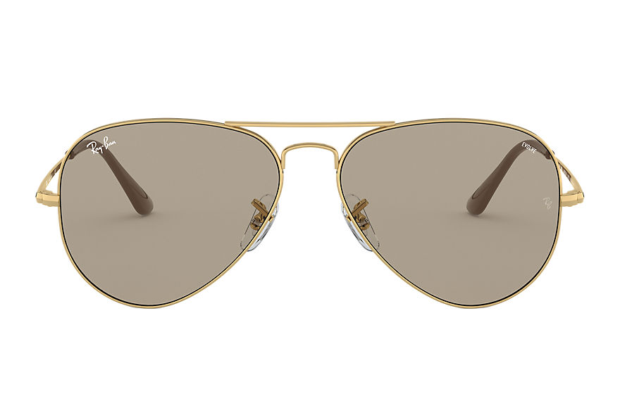 Ray-Ban  sunglasses RB3689 UNISEX 002 rb3689 solid evolve złoty 8056597139243
