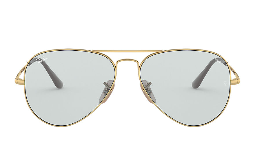 Ray-Ban  oculos de sol RB3689 UNISEX 003 rb3689 solid evolve ouro 8056597139328