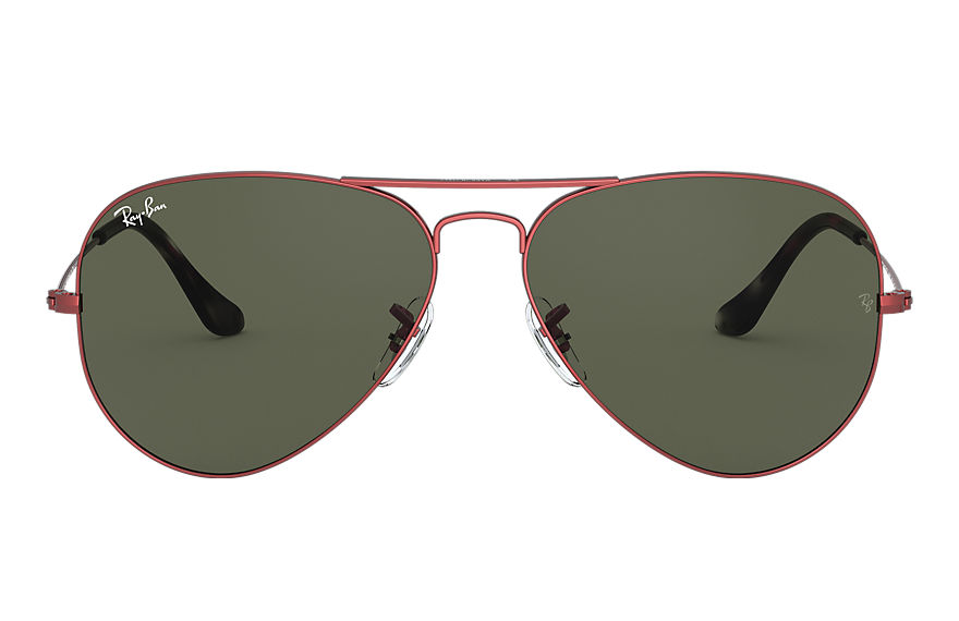 Ray-Ban  oculos de sol RB3025 UNISEX 001 aviator clássico red metal 8056597139571
