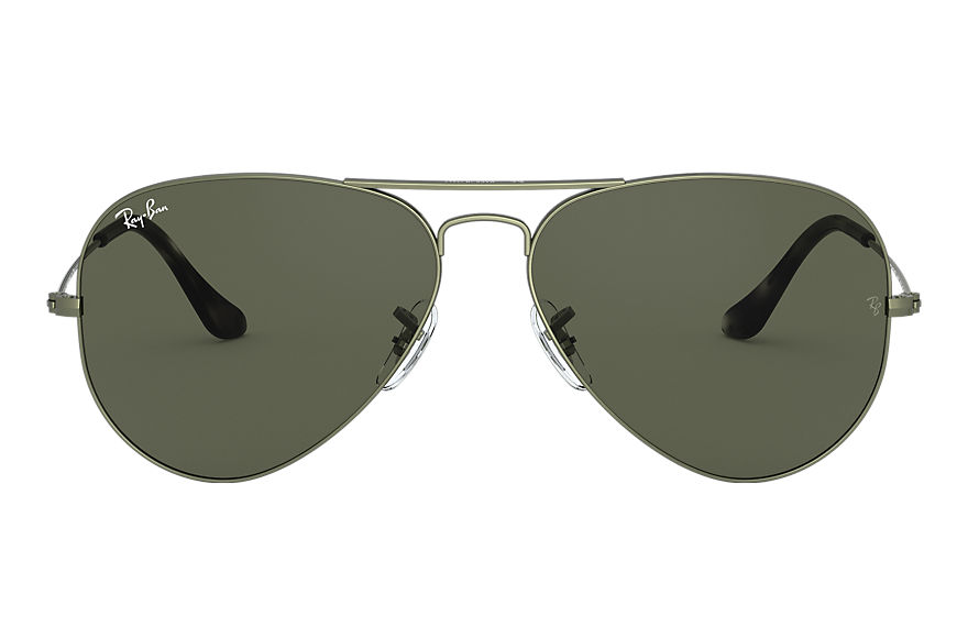 Ray-Ban  sunglasses RB3025 UNISEX 001 aviator classic green metal 8056597139663