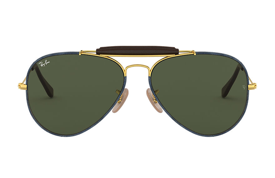 Ray-Ban  sonnenbrillen RB3422Q UNISEX 006 outdoorsman craft blau denim 8056597139731