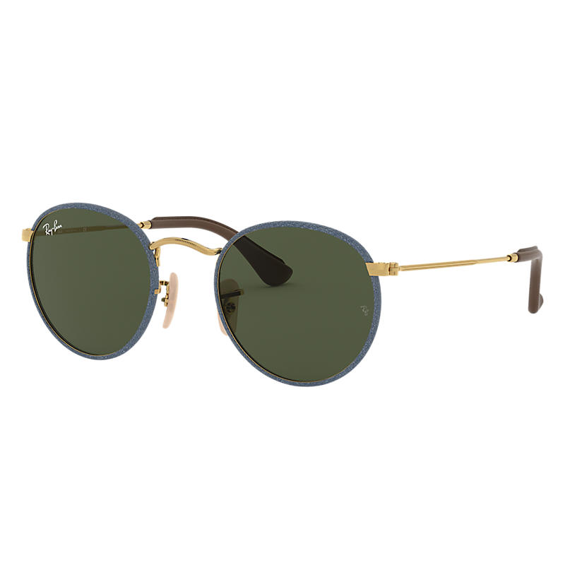 Ray Ban Round craft Unisex Sunglasses Verres: Vert, Monture: Or - RB3475Q 919431 50-21