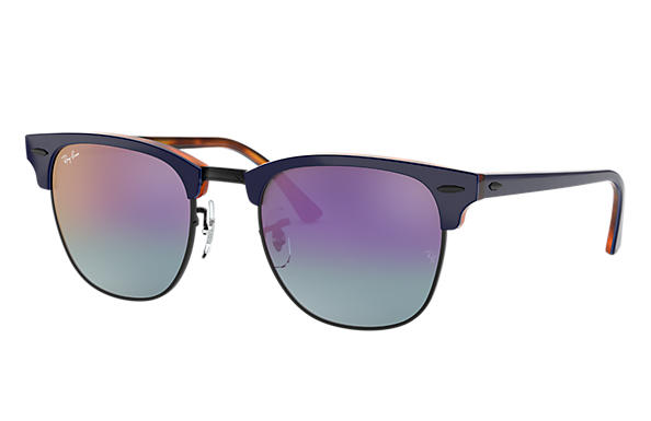 Ray-Ban 0RB3016-CLUBMASTER COLOR MIX Blue,Tortoise SUN