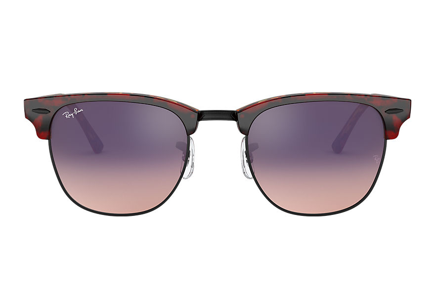 Ray-Ban  occhiali da sole RB3016 UNISEX 001 clubmaster color mix havana rosso 8056597139861