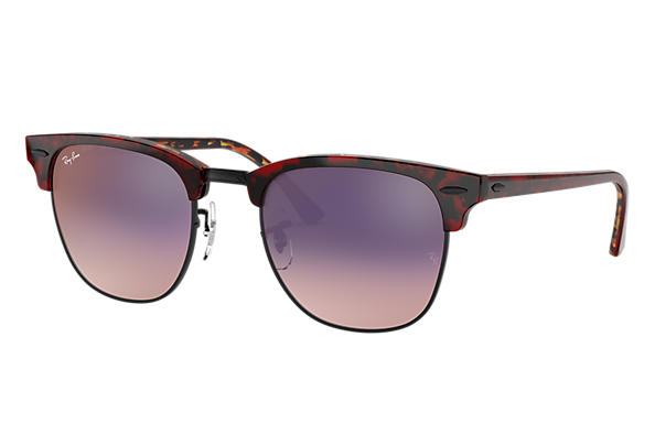 Ray-Ban 0RB3016-CLUBMASTER COLOR MIX Red Havana,Tortoise SUN