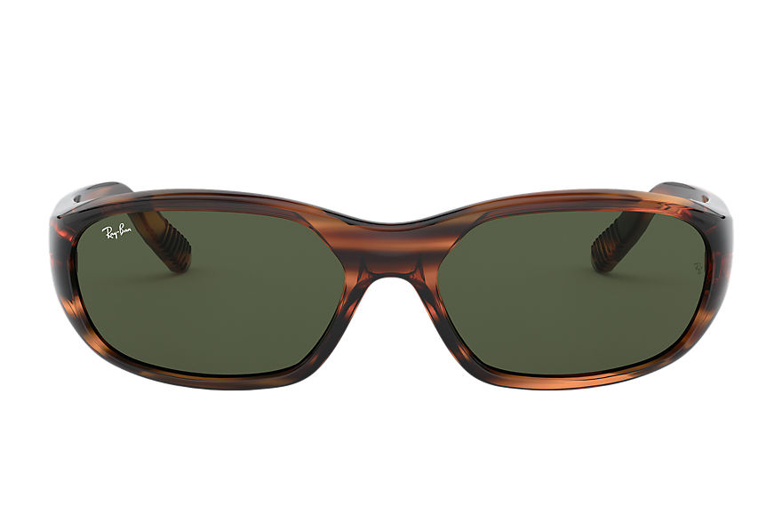 Ray-Ban DADDY-O II Striped Red Havana with Green Classic G-15 lens