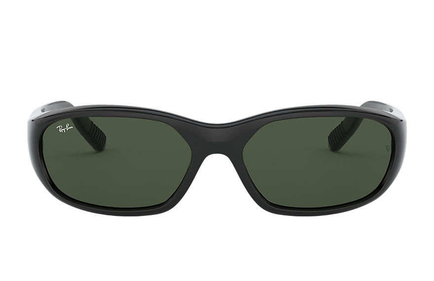 Ray-Ban DADDY-O II Black Polished with Green Classic G-15 lens