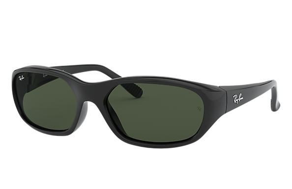 Ray-Ban Sunglasses DADDY-O II Black Polished with Green Classic G-15 lens