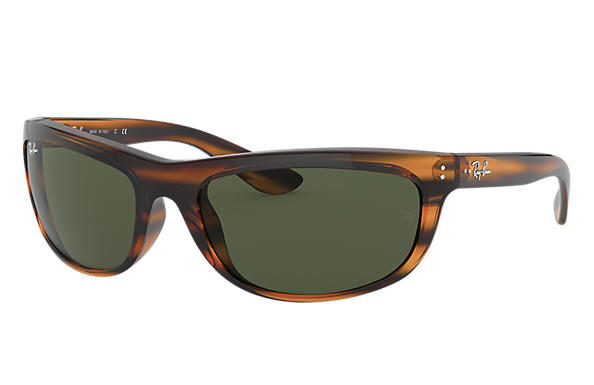 Ray-Ban BALORAMA Czarny with Zielony Classic G-15 lens
