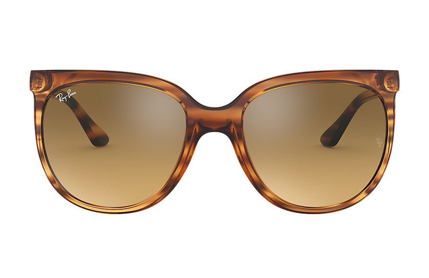 Ray-Ban  oculos de sol RB4126 FEMALE 001 cats 1000 listras marrom 8056597139977